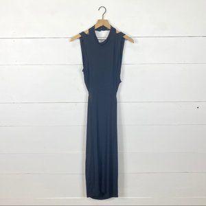 ASOS Black High Neck Backless Bodycon Dress